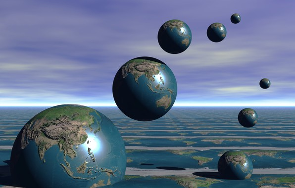 Picture background, earth, balls, planet
