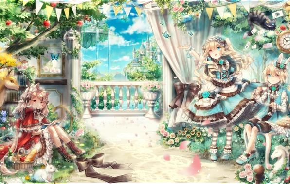 Photo Wallpaper Kawaii Girl Rose Fantasy Flower Dress Nothing