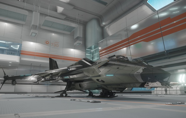 Picture station, starship, Star Citizen, Gladius