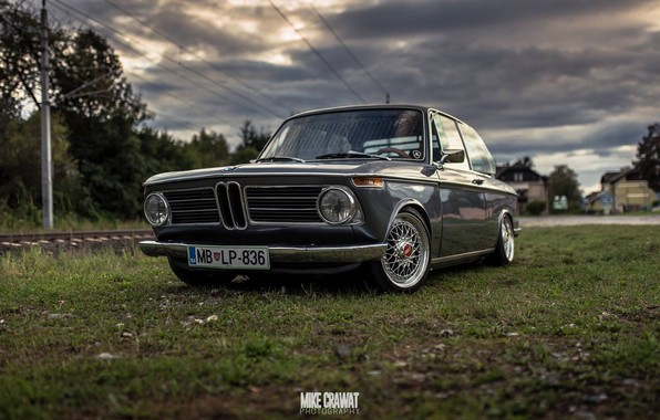 Picture Auto, Retro, BMW, Machine, Lights, 2002, The front, New Class, Old, Mike Crawat Photography, Mike …