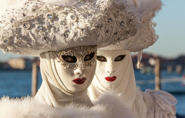Picture Venice, carnival, mask, hats, costumes