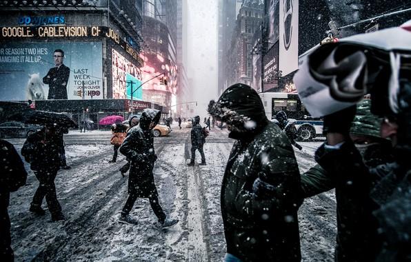 Picture the city, Winter, New York, USA, USA, New York, manhattan