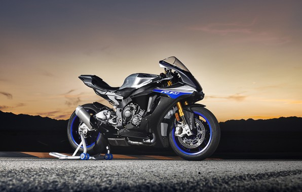 Picture the evening, bike, Yamaha, 2018, YZF, R1M