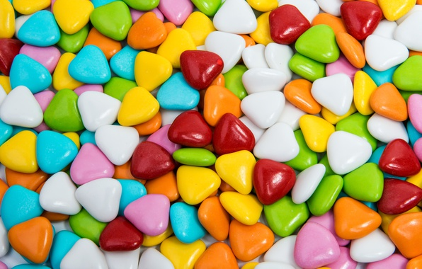 Picture colorful, candy, sweets, lollipops, hearts, sweet, candy