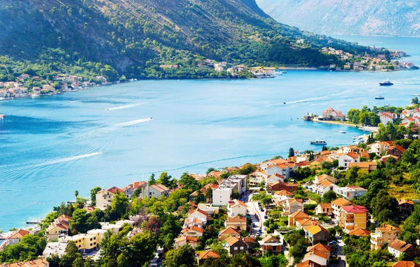 Picture Home, The city, Bay, Ships, Montenegro, Kotor, The Boka Kotorska