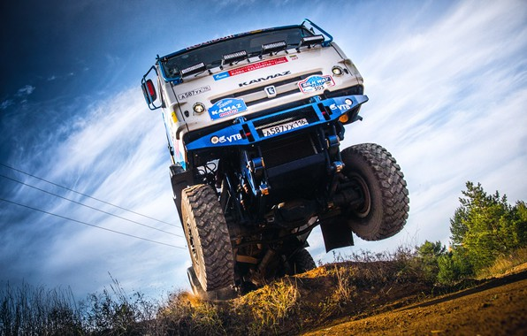 Picture The sky, Sport, Speed, Truck, Race, Master, Russia, Kamaz, Rally, Rally, KAMAZ, The roads, Best, …