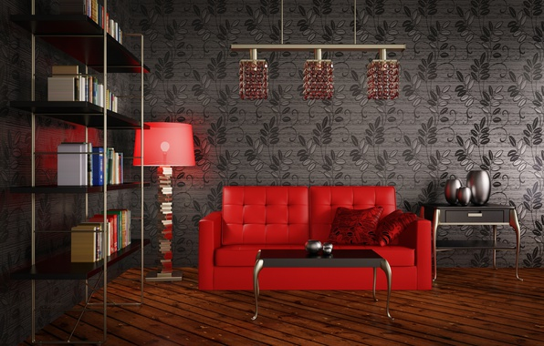 Picture design, living room, Modernity