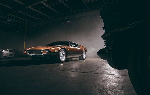 Picture Car, Front, Old, Brown, De Tomaso Pantera