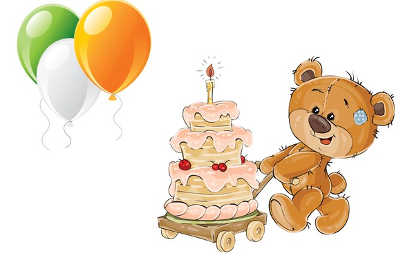 Picture balls, birthday, holiday, gift, art, cake, children's