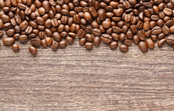 Picture background, coffee, grain, wood, texture, background, beans, coffee, roasted