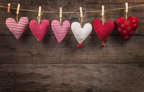Picture love, heart, hearts, red, love, wood, romantic, hearts, valentine