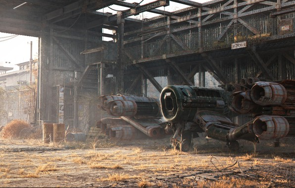 Picture construction, structure, aircraft, Old Hangar, final render copy, Milos Belanec