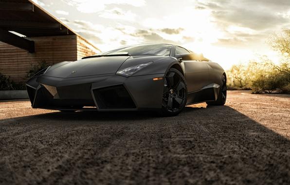 Picture black, Lamborghini, Reventon, supercar, Black, Lamborghini, Reventon