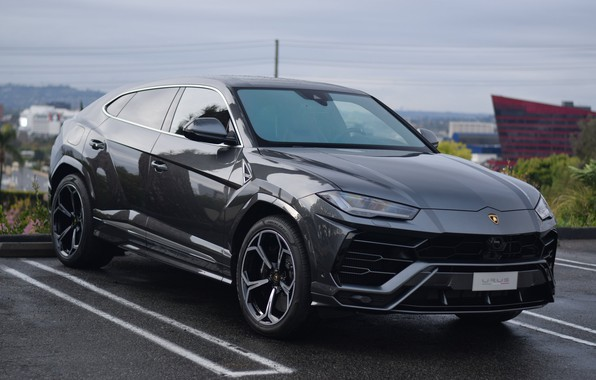 Picture Lamborghini, Gray, Parking, Urus