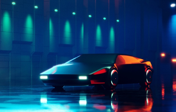 Photo Wallpaper Car Art Retrofuture