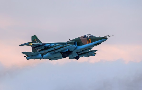 Picture attack, Su-25, Frogfoot, The Russian air force, Su-25