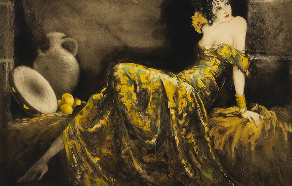 Picture 1939, Louis Icart, Cheerful senorita