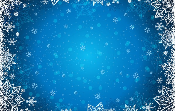 Picture winter, snowflakes, background, winter, background, snowflakes