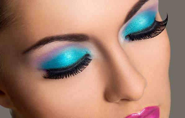 Picture model, female, makeup, eyelids, Eyelashes