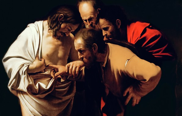 Picture picture, mythology, Michelangelo Merisi da Caravaggio, The Unbelief Of St. Thomas