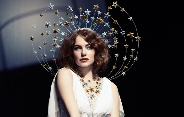 Picture makeup, dress, actress, hairstyle, outfit, stars, brown hair, photoshoot, Emma Stone, Emma Stone, SNL, Mary …