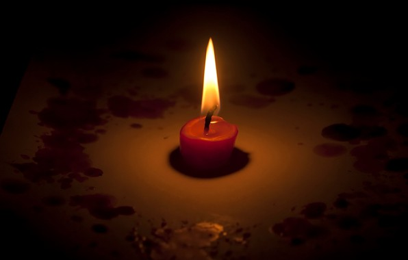 Photo wallpaper memory, candle, the trouble, Kemerovo