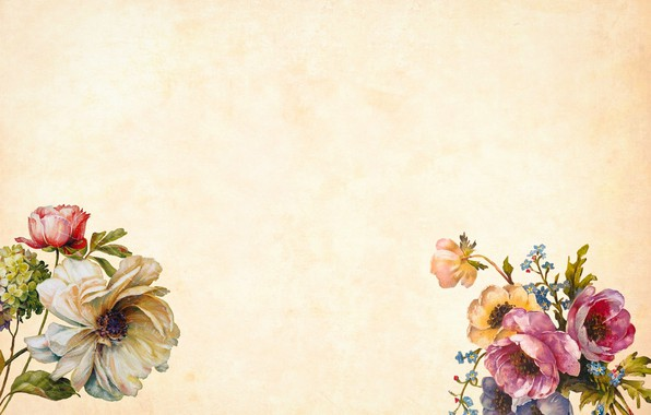 Picture flowers, background, Texture, beige