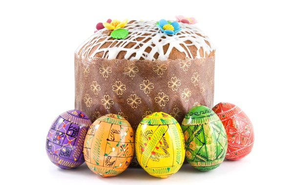 Picture Easter, Eggs, Food, Cake, Holidays, White Background