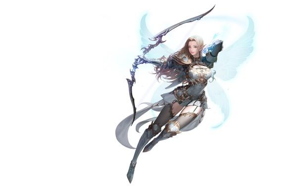Picture wings, Archer, fantasy, art, Illustrator, Daeho Cha, MU ORIGIN illust