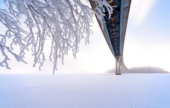 Picture winter, bridge, Finland, South Karelia, Lappeenranta
