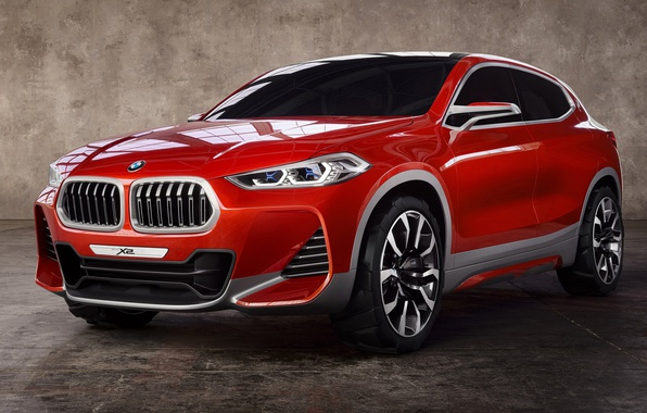 Picture auto, red, Bmw, BMW X2