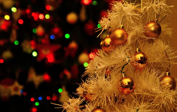 Picture background, toys, tree, new year
