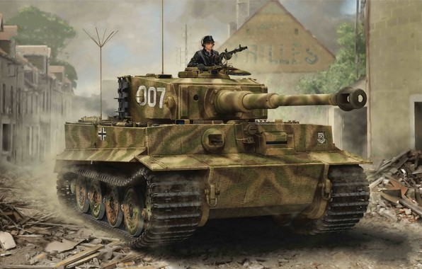 Picture Tiger I, Late Production, The war in Europe, World war II