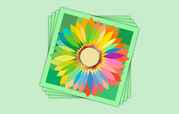 Picture green, colors, flower, cards