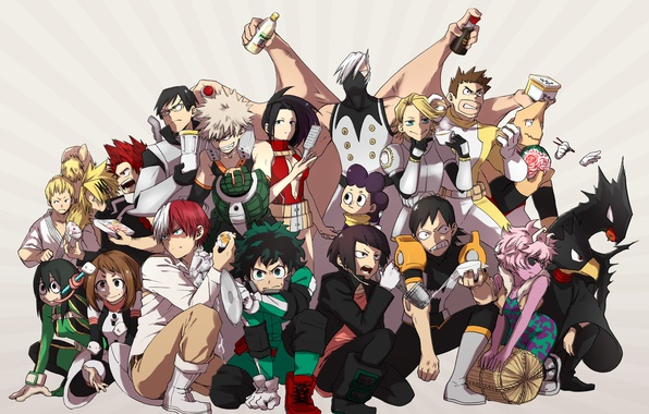 Picture anime, hero, manga, powerful, strong, yuusha, grenade, Boku no Hero Academy, My Hero Academia