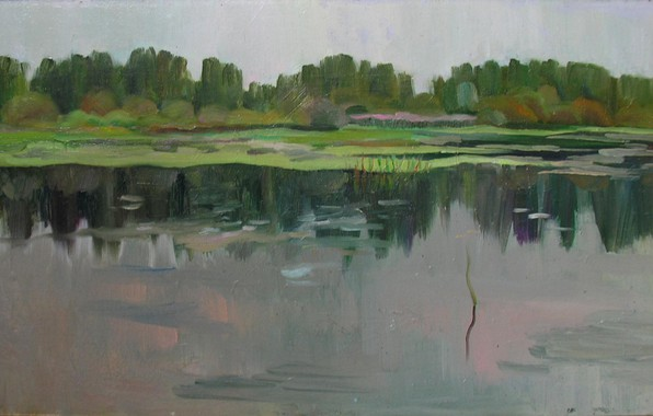 Picture forest, trees, lake, Rostock, Svetlana Nesterova