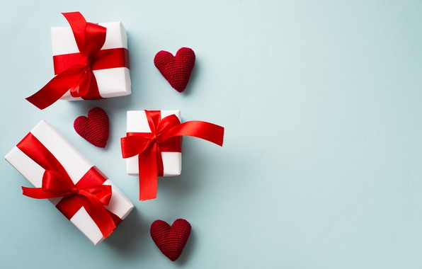 Picture love, holiday, gift, hearts, Valentine's day