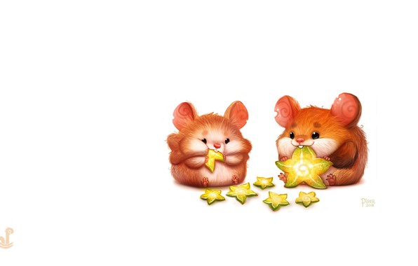 Picture art, children's, hamster, Piper Thibodeau, Daily Paint 1879# Hamstar