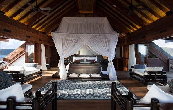 Picture Villa, interior, living room, Luxury Villa, Necker Island
