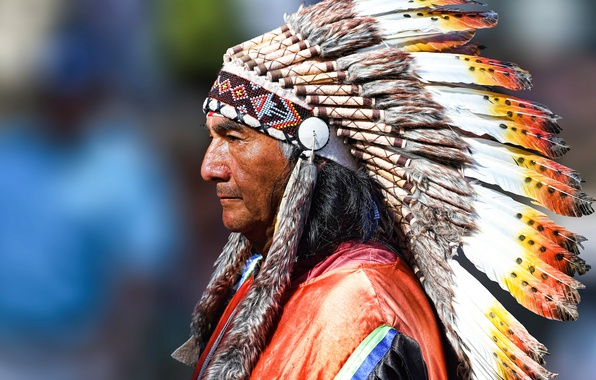 Picture style, man, Indian, face, Peruvian