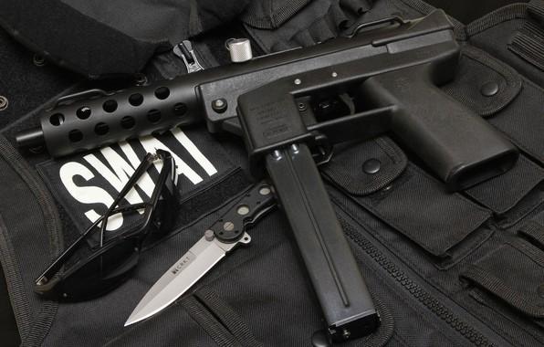 Picture gun, knife, gun, pistol, weapon, SWAT, knife, tec9, tec-9, Tek-9, Тек9