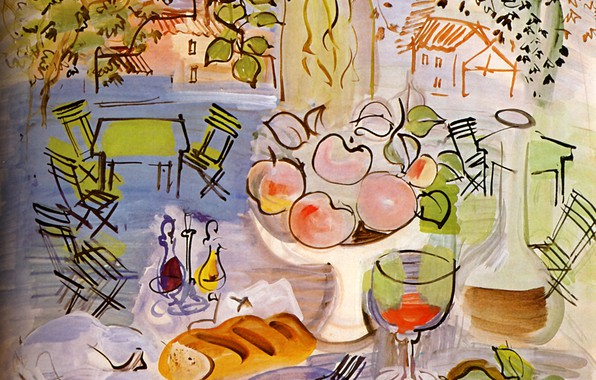 Picture Still life, Baltimore, 1928, Raoul Dufy, Aquarelle, Nature Morte, The Evergreen House Foundation