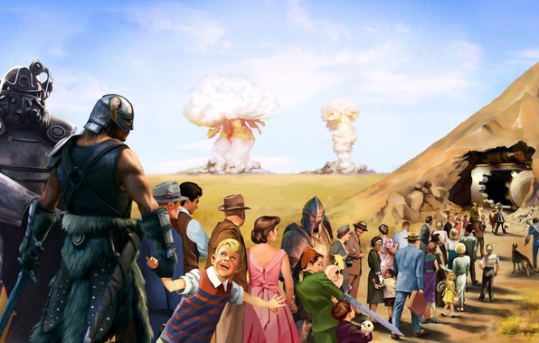 Picture The game, People, The explosion, Fallout, Art, Art, Skyrim, Bethesda Softworks, The Elder Scrolls V …