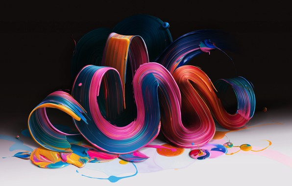 Picture paint, bending, the volume