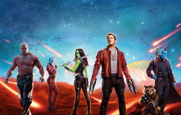 Picture Action, Baby, Nebula, year, Vin Diesel, Team, Bradley Cooper, MARVEL, Walt Disney Pictures, Movie, Rocket, …