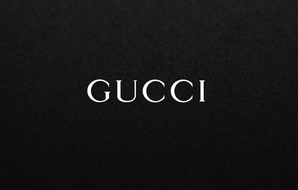 Picture black, the inscription, logo, fon, GUCCI, Gucci