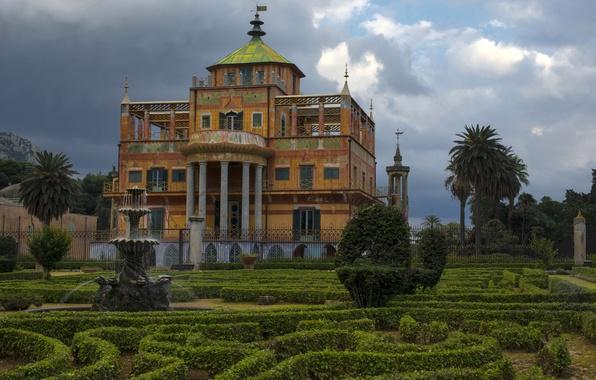 Wallpaper Park, Villa, Italy, Sicily, Palermo, Little