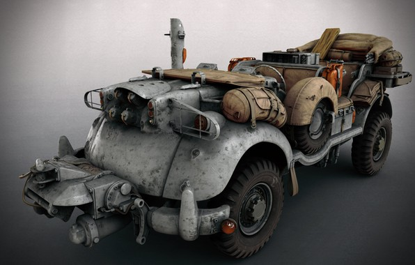 Picture transport, equipment, SCI-FI WW2 Jeeps