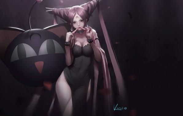 Picture girl, anime, art, Vaf Fan, Blacklady, Sailormoon