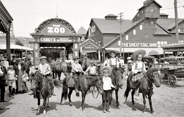 Picture children, retro, USA, zoo, output, 1904-the year